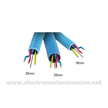 Corrugado apantallado 16 mm. con cables TCEH-16