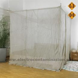 BALDAQUIN CAMA DOBLE - SILVER TULLE proteccion electromagnetica