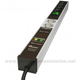 Regleta apantallada con filtro de electricidad sucia Danell D-6744