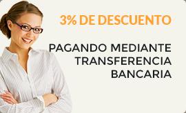 Descuento del 3% con pago por transferencia